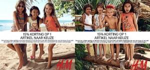 Nu 15% korting op H&M kindercollectie